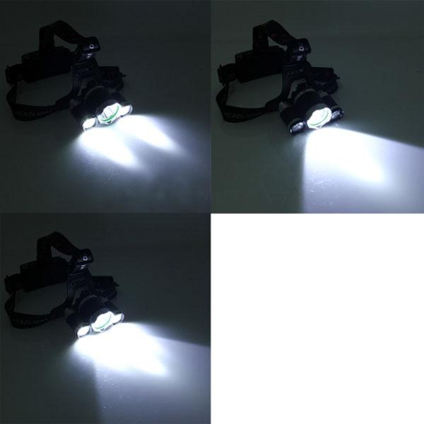 Đèn trang bị chip siêu sáng là XM-L T6 và 2 bóng Cree Q5 của Mỹ. Có 3 chế độ sáng là: 1 Bóng – 2 Bóng – 3 Bóng.