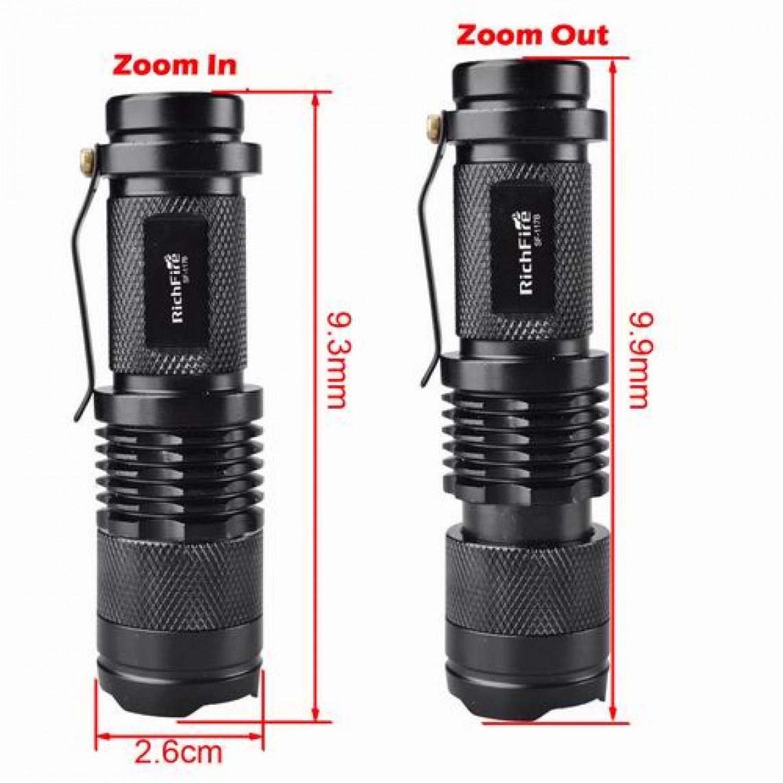 Đèn có chiều dài khoảng 9.3mm - 9.9mm