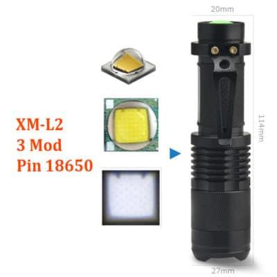 Đèn Pin Siêu Sáng XM-L2 Mini