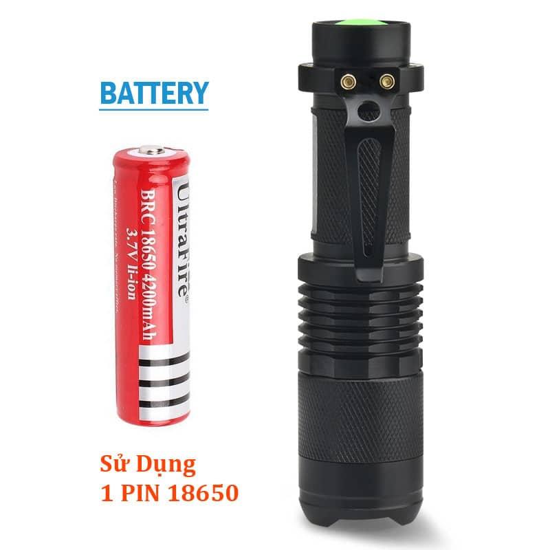Đèn sử dụng 1 pin 18650