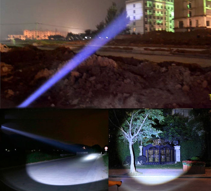 Đèn có 3 chế Độ sáng : Mạnh - vừa - SOS