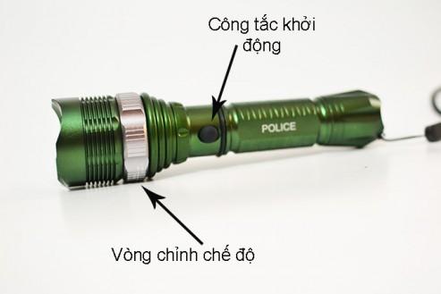 Công tắc ở ngay trên thân đèn và đèn có vòng chỉnh chế độ