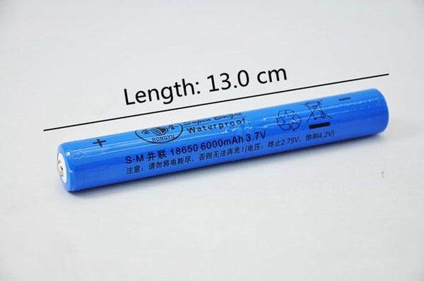 Đèn sử dụng 01 pin 18650- 6000mAh