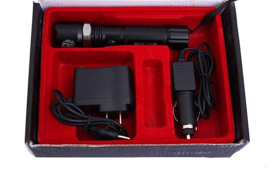 Trọn bộ sản phẩm Đèn Pin Siêu Sáng Cree Zoom SS001