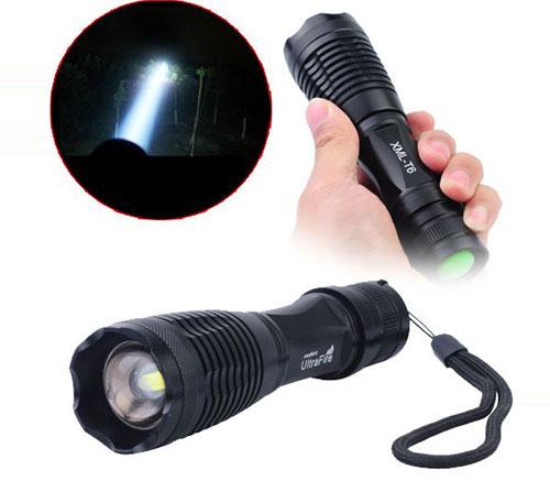 Đèn có 5 chế độ sáng là: Tăng Cường, Vừa, yếu, SOS, và chớp